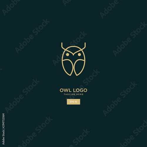 owl logo of lines vector logo design