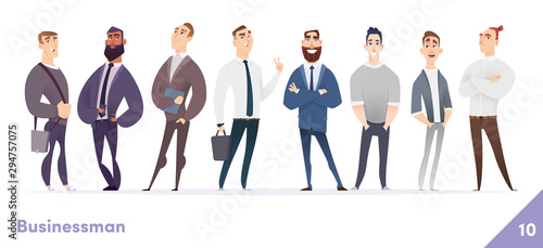 Fotografía Businessman or people character design collection
