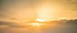 Leinwandbild Motiv sun bright panorama view for banner background