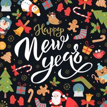 Happy New Year Social Media Ve...