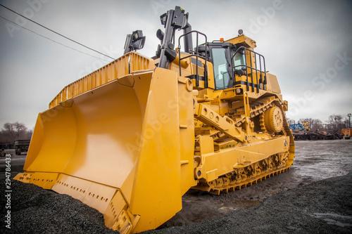 Fotografía  bulldozer on construction site