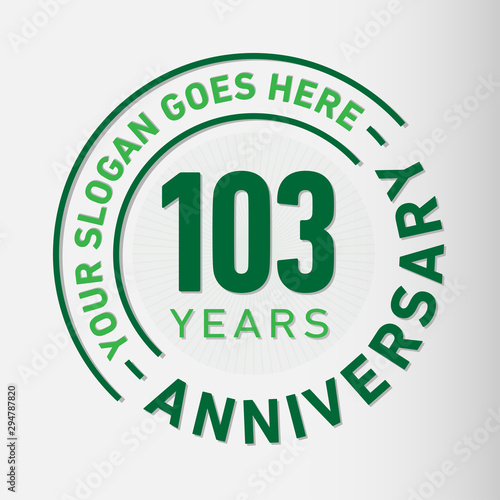 Papel de parede  103 years anniversary logo template
