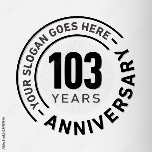 Tela  103 years anniversary logo template