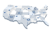 USA Graphic Network Map. A Map...