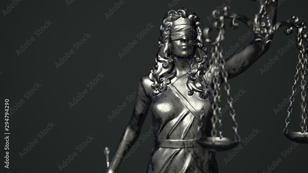 Fototapety, obrazy: Lady Justice Dark Background