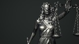 Lady Justice Dark Background