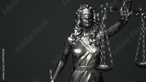 Lady Justice Dark Background - 294794290