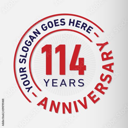 Tela  114 years anniversary logo template