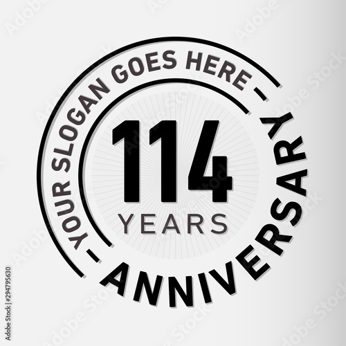 Papel de parede  114 years anniversary logo template