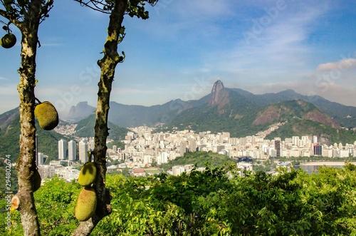 Blick auf Corcovado in Rio de Janeiro Fototapet