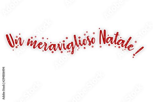 felice anno nuovo buone feste un meraviglioso Frohe Weihnachten - Merry Chrismas Canvas Print