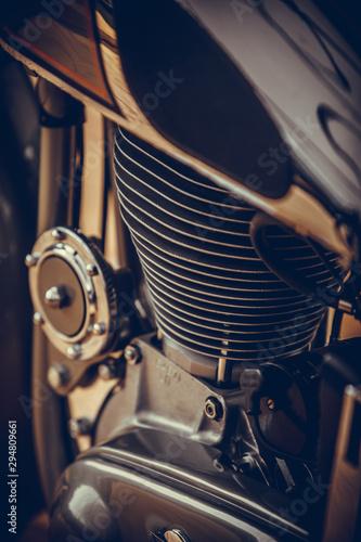 fototapeta na lodówkę Vintage motorcycle cylinder
