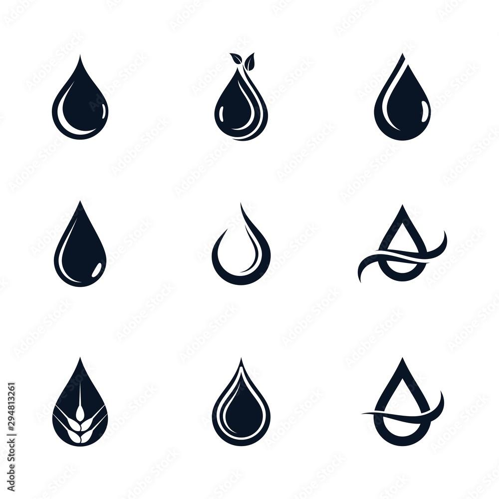 Fototapeta Oil drop icon vector illustration