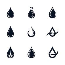 Oil Drop Icon Vector Illustrat...