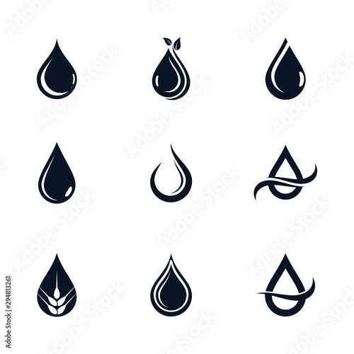 Obraz Oil drop icon vector illustration - fototapety do salonu