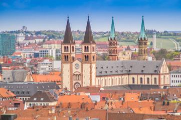 Altstadt Skyline von Würzburg in Bayern