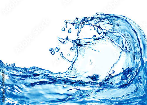 Stickers pour portes Fleur water splash isolated on white background