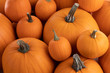 canvas print picture - Many pumpkins background