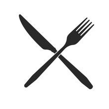 Cutlery. Crossed Knife And For...
