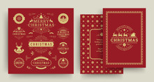 Christmas Labels And Badges Ve...