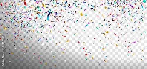 Fototapeta Festive Multicolored Confetti obraz na płótnie