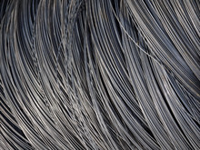 Roll Of Metal Wire Of Silver Color. Building Material