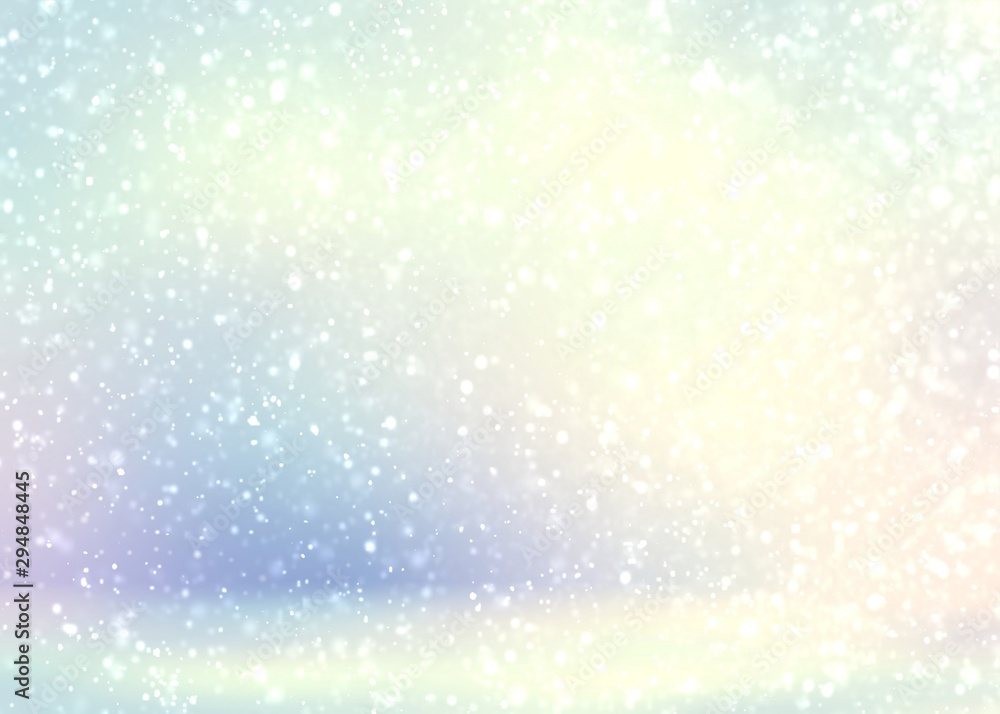 Fototapety, obrazy: Winter bright pastel 3d bacground. Light snow pattern. Delicate subtle illustration.