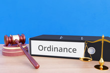 Ordinance – Folder With Labeling, Gavel And Libra – Law, Judgement, Lawyer