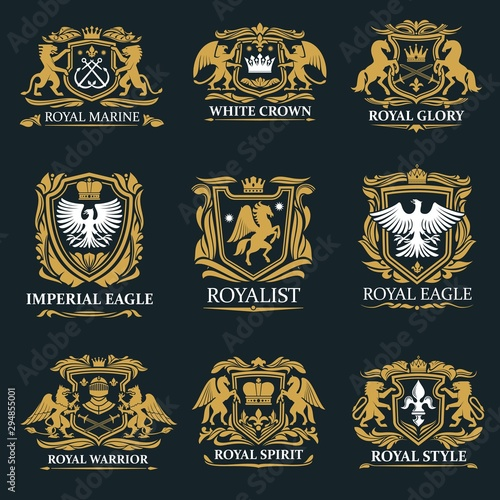 Royal crown heraldry, coat of arms Tablou Canvas