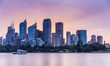 Sydney skyline at sunset time
