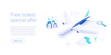 Travelling By Air Concept In I...