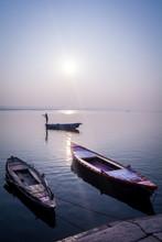 Sunrise View From Varanasi, In...