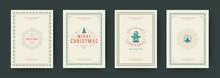 Christmas Cards Vintage Typogr...