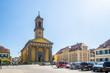 Leinwandbild Motiv Sankt Ludwig Kirche, Ansbach, Bayern, Deutschland