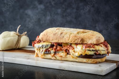 Fotografie, Tablou Parmigiana sandwitch
