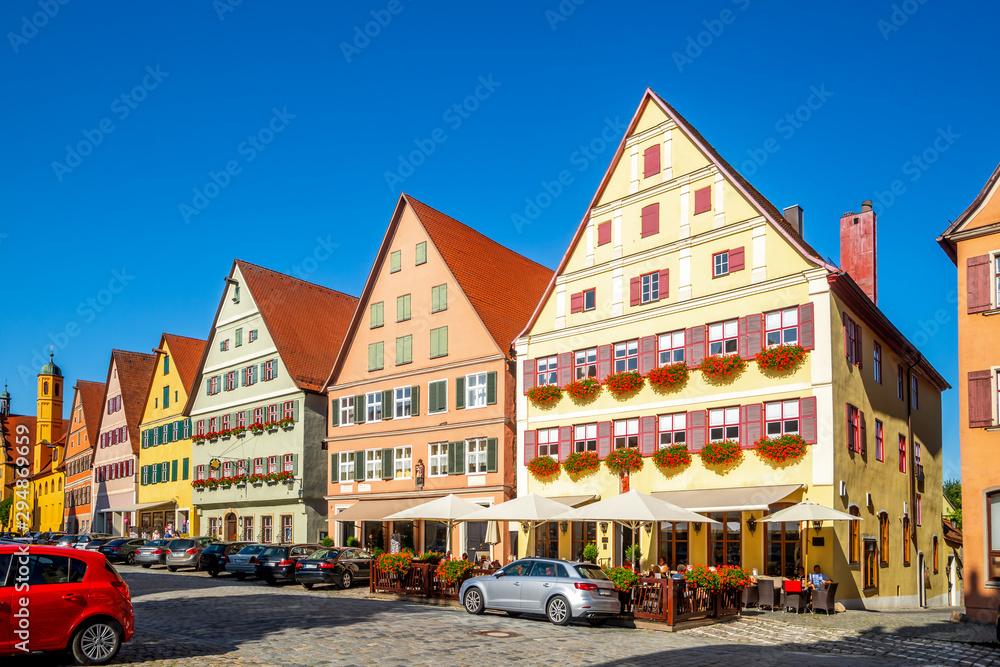 Fototapeta Weinmarkt, Dinkelsbühl, Bayern, Deutschland