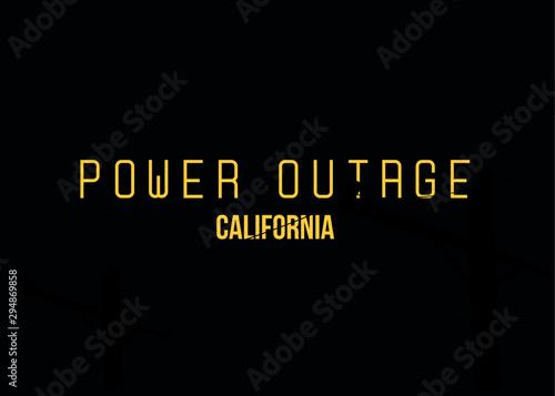 Fotografía  PG&E Power Outage