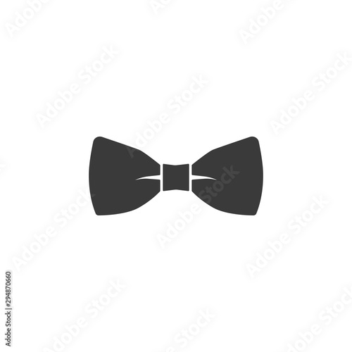 Canvastavla vector bow tie icon on white background