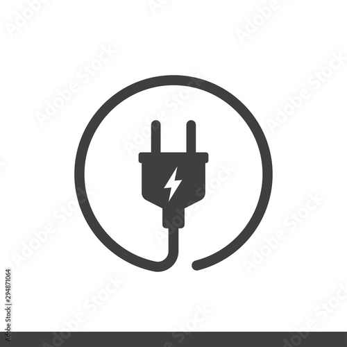 electric plug vector icon Fototapet