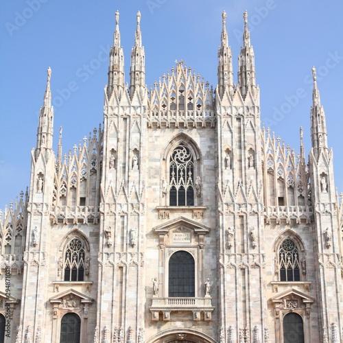 Staande foto Milan Milano Duomo. Italy landmark.