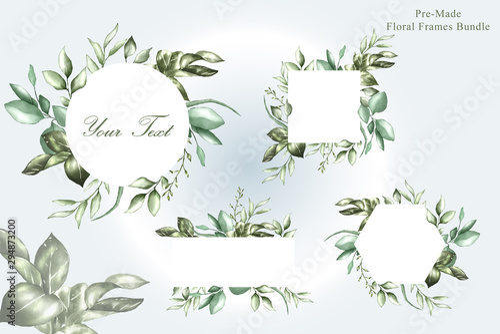 Photo  watercolor wedding frames multi purpose template design collection