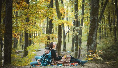 Happy couple on honeymoon vacation travel, romantic getaway dream holidays Wallpaper Mural