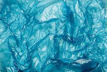 Background, Blue Plastic Bag Closeup
