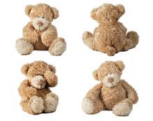Set Of Teddy Bear Isolated On ...