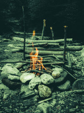 Fire Pit Near The River