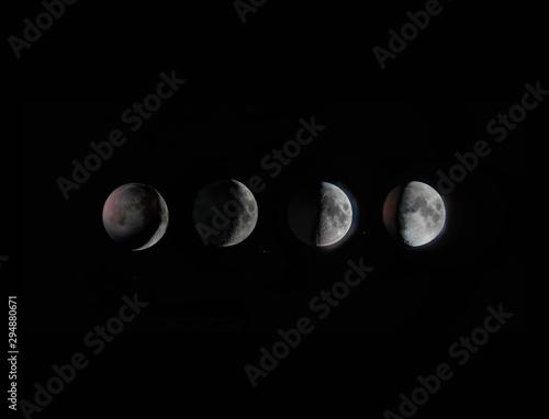 Procesos de La luna Fototapet