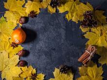 Autumn Yellow Maple Leaves, Pu...