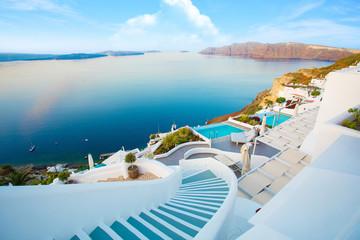 Beautiful Santorini by surise Greece