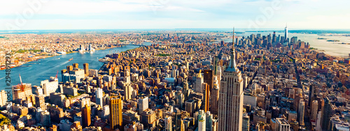 Foto op Canvas Londen Aerial view of the skyscrapers of Midtown Manhattan New York City