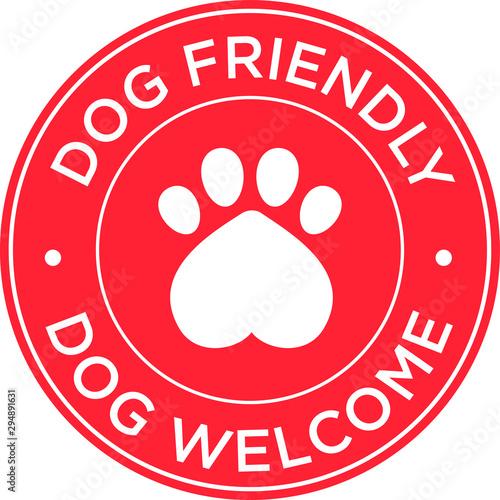 Pinturas sobre lienzo  illustration vector symbol or icon of dog friendly area